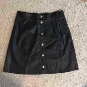 Faux Leather Black Skirt!